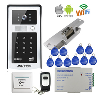 FREE SHIPPING RFID Code Keypad Wifi 720P HD Video Doorbell Intercom Outdoor Camera For Android IOS