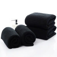 1pcs Solid Color Black Large Bath Towel High Quality Thick 100 Cotton Hotel Adults Face Towels