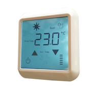 AC220V 20A Touch Screen Thermoregulator Temperature Controller For Floor Heating Systems