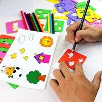 Vendite calde Penna Learning Disegno Colorato Giocattolo Montessori Scala Set Pittura Pittura Grafica Modello Del Fumetto Dei Bambini