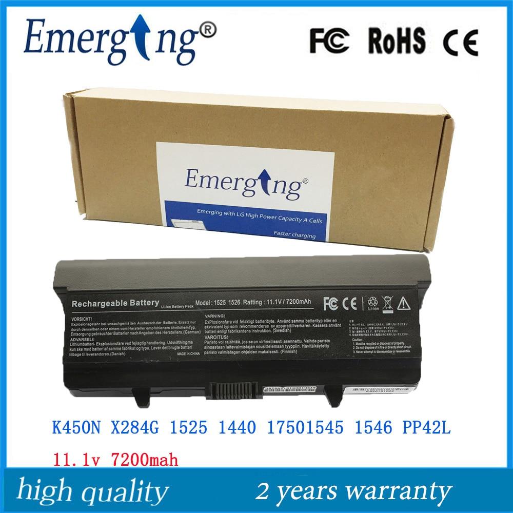 9 zellen 11,1 v 7200 mah laptop-batterie für dell 1525 1526 1545 1546 0gw240 rn873 ru573 312-0625