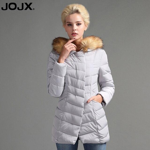 f11dcd563 US $64.79 |JOJX Women Winter Jacket 2017 New Fashion Hooded Slim Fur Parka  Warm Winter Coat Parkas Cotton Clothing Outerwear-in Parkas from Women's ...