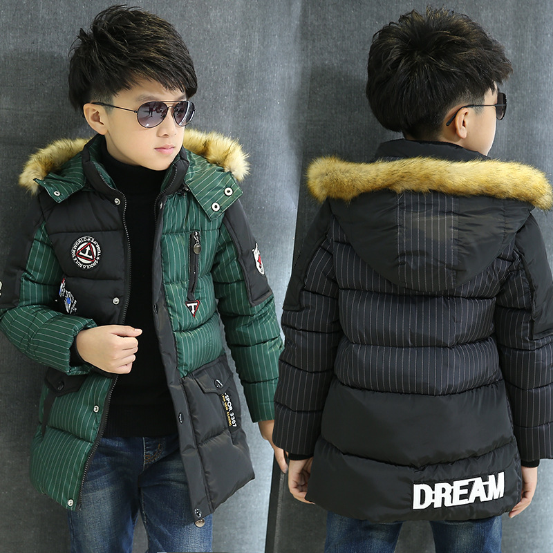 boys clothing winter outerwear & coats striped parkas boys outerwear thicken children jackets for boys down coat kids jackets
