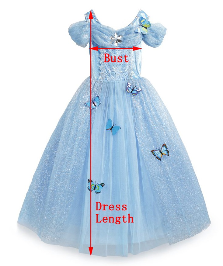 Cinderella dress with butterfly measurement