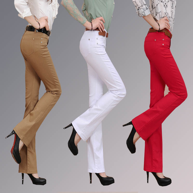 2015 new cheap lady office business size 26-34 palazzo plus size women wide leg slim jeans  free shipping