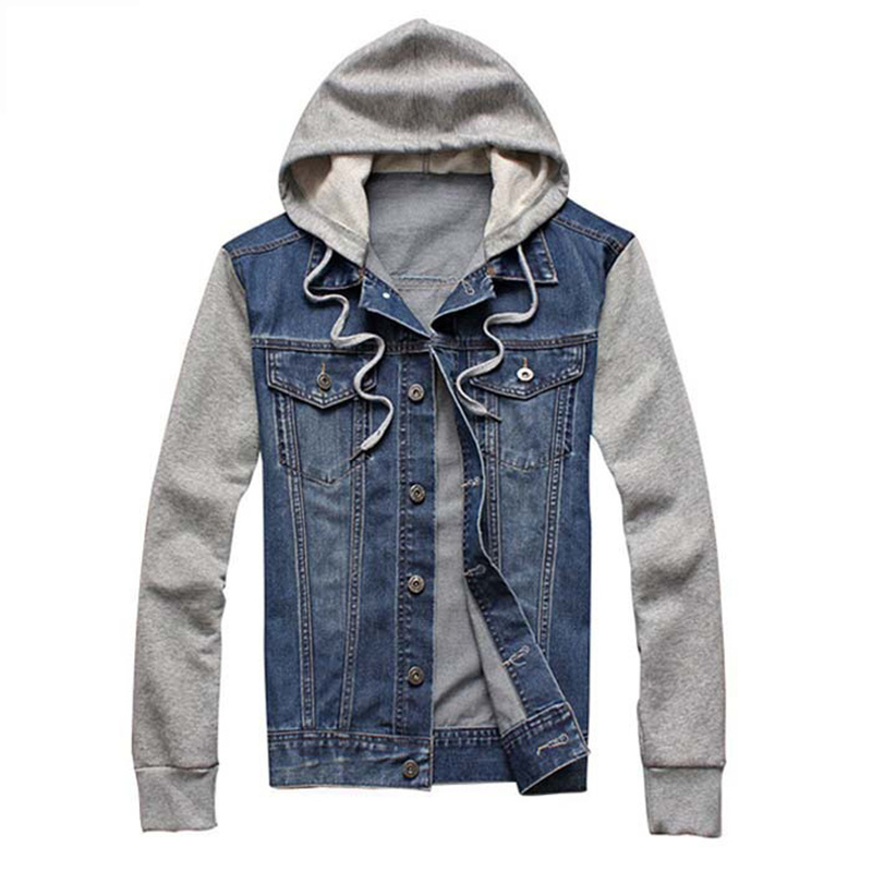 Mens Jean Jacket With Hood YRejZI