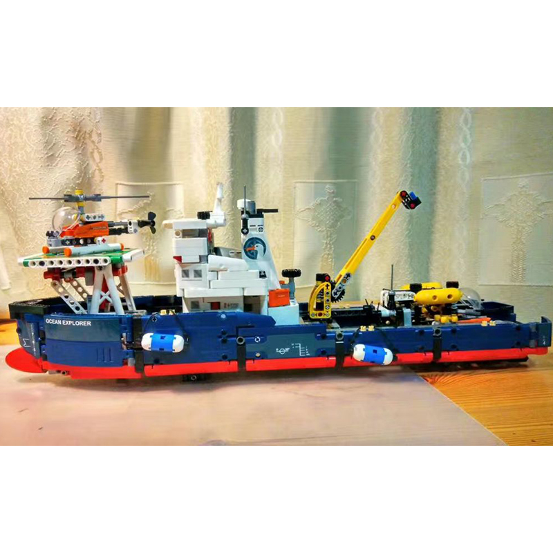 Lepin 20034 Ocean Explorer Ships Model Building Bricks Blocks Toys New year Gift Toys for Children Boy educational 42064 dayan gem vi cube speed puzzle magic cubes educational game toys gift for children kids grownups