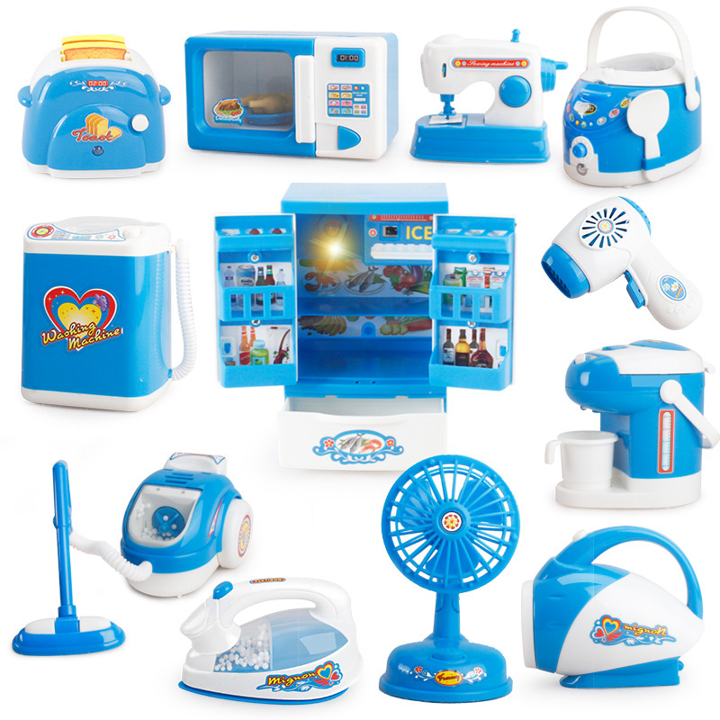 Cleaner Cooker Educational Kitchen Toys  Children Pretend Play  Toy Play Kitchen Set  For Kids Boys Dollhouse Toy 1/12 Kitchen