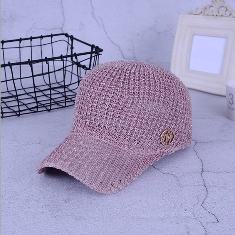 Ladies Summer Mesh Snapback Baseball Caps Breathable Letter M Equestrian Cap For Women Girls Sun Hat Bone Casquette