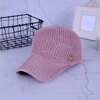 Señoras verano malla Snapback gorras de béisbol respirable letra M ecuestre  Cap para las mujeres las niñas sombrero Casquette ffc254561a5