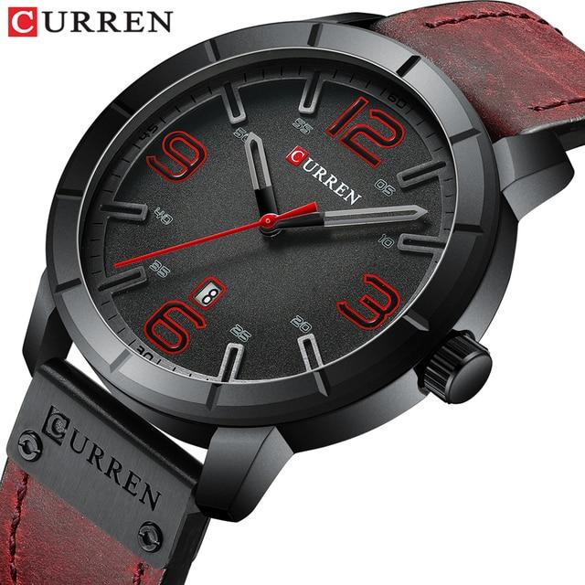 นาฬิกาผู้ชาย2019นาฬิกาCURREN Men S Quartzนาฬิกาข้อมือชายนาฬิกาแบรนด์หรูReloj Hombresนาฬิกาข้อมือหนังนาฬิกาปฏิทิน