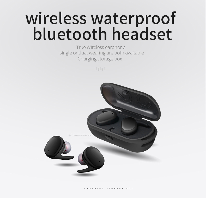 WearPai Wireless Bluetooth Earbuds Smallest Cordless Earphones and Storage Box with Charger Funtion for sport/portable/phone