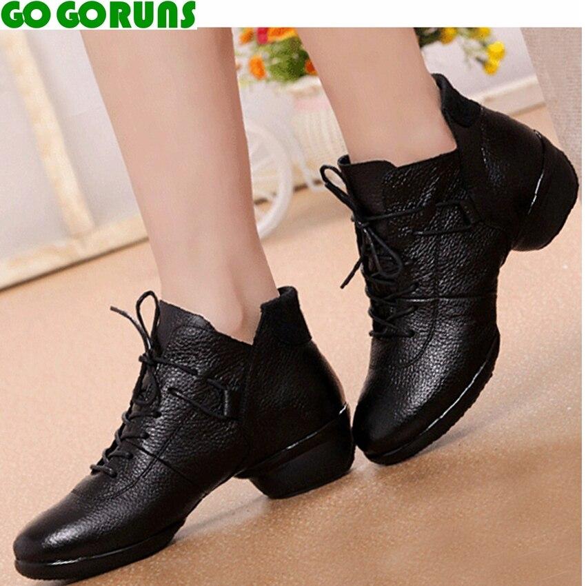 Véritable cuir respirant femmes jazz danse chaussures dames sport danse chaussures femmes filles moderne salsa danse chaussures baskets 295e