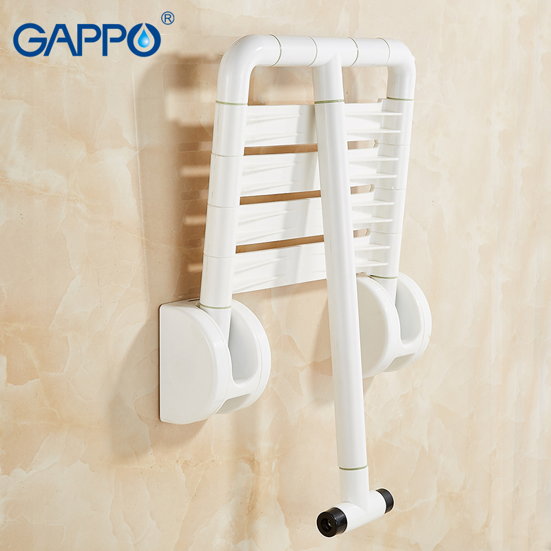 Fantastic Us 60 7 54 Off Gappo Wall Mounted Shower Seat Folding Bench For Elderly Toilet Folding Shower Chairs Bath Shower Stool Cadeira Bath Chair In Wall Pdpeps Interior Chair Design Pdpepsorg
