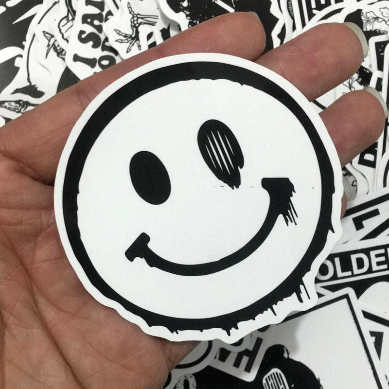 100 unids mezclado blanco y negro pegatinas kids decoración para el - Juguetes clásicos - foto 5