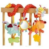 Multifunctional Soft Baby Animal Bed Hang With BB Device Rattles Teether Infant Early Educational Toy Wholesale