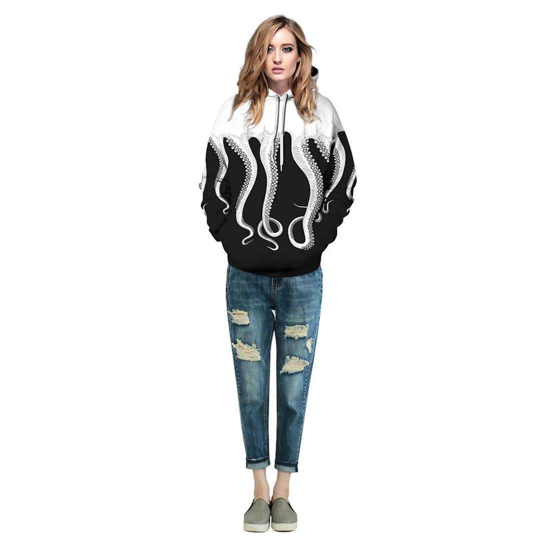 Men/Women New Hoodies 3d Print Tracksuit Octopus Funny Hoodie Harajuku Hip Hop Sweatshirts Fashion Pullover Hooded Spring