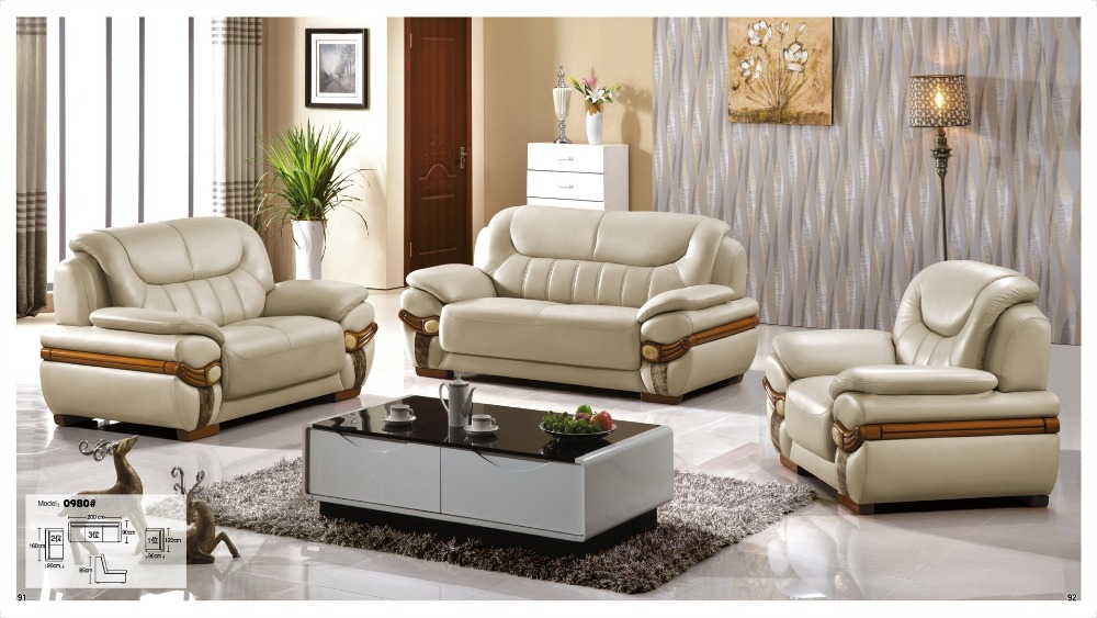 Iexcellent Modern Design Genuine Leather Sectional Sofa Sofa Set Living Room Furniture Leather