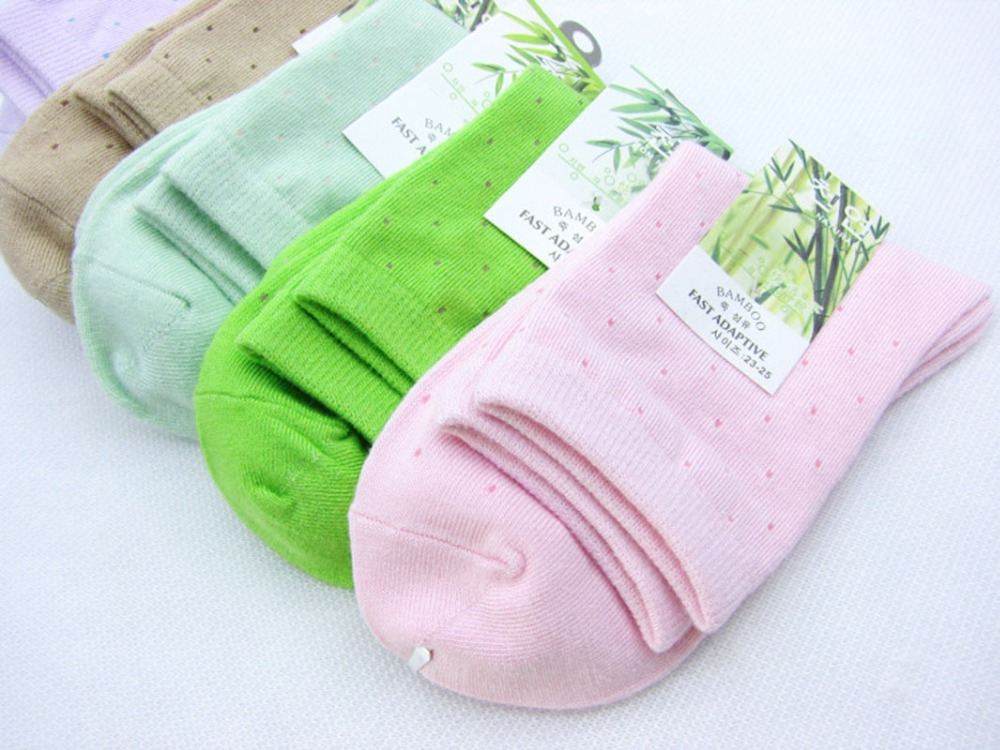 Thought Gift Box 4 Bamboo Socks Garden Party Pink Greens Bright Multi UK 4-7