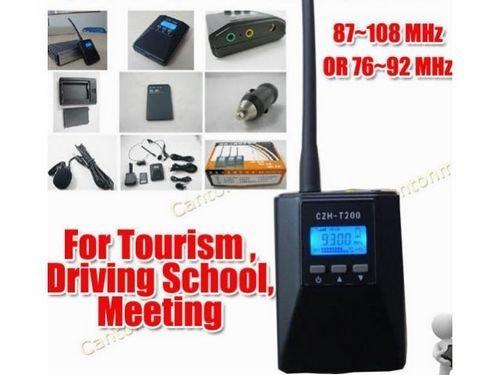 CZH-T200 0.2 Вт Портативный Fm-передатчик радио радио braodcast Стерео/Моно электропривод Для Туризма Автошкола Собрания
