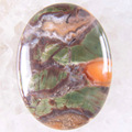 Free Shipping New without tags Stone 30x40MM Natural Multi-color Jasper Bead CAB Cabochon 1Pcs RK1693