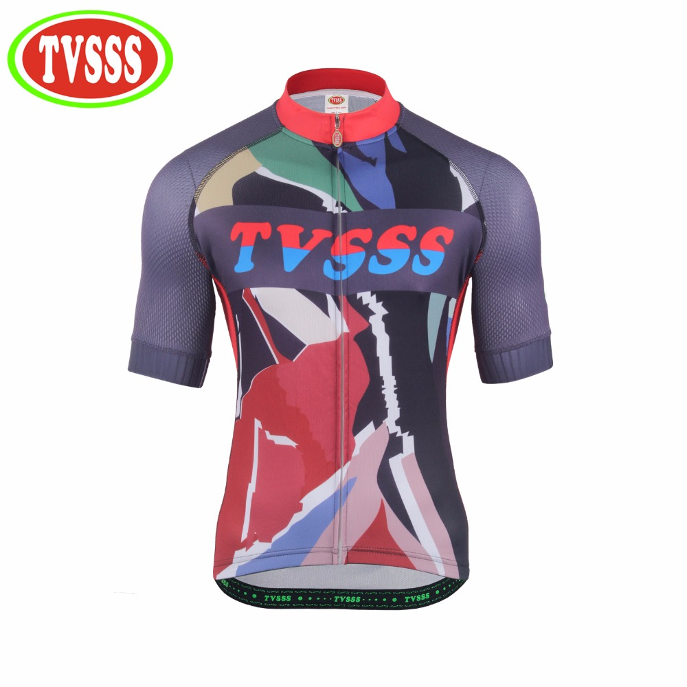 TVSSS MTB Bicycles Clothing Summer Short-Sleeved For Color Mens Cycling Jerseys Cuffs are made of oversized vent holes Bike MTB
