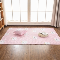 2.2m Full Cotton Carpet Floor Cushion Living Room Modern Solid Color Mechanical Wash 2m Footcloth Geometric Pattern Mat Tatami