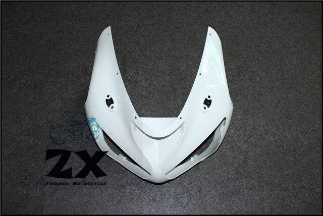 Полный Обтекатели для верхних передних обтекатель обтекатель Клобук нос для Kawasaki на ZX 6р 2005-2006 неокрашенный