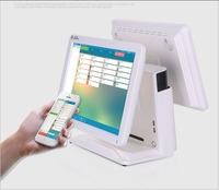 15 inch Windows tablet pos system dual screen all in one cash register pos