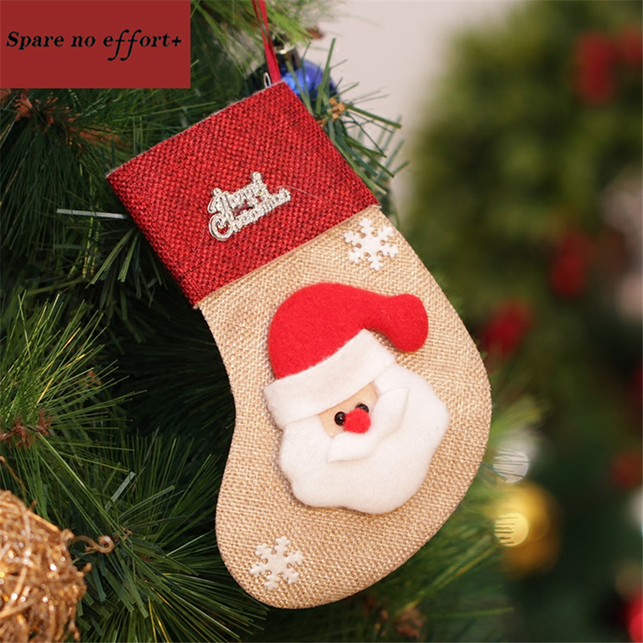 4pcs cheap christmas stocking personalized gifts socks filler artificial christmas tree ornaments christmas decorations for home in trees from home garden
