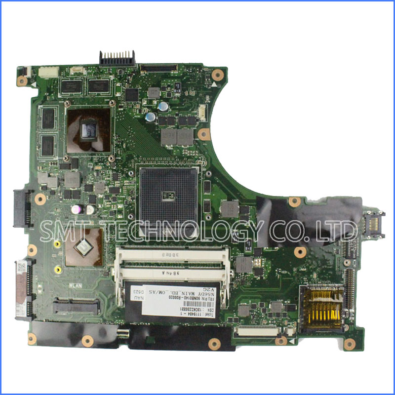 N56D N56DR Motherboard for Asus DDR3 1600 MHz ATI Radeon HD 8750M 2G Support AMD A8-5550M Processor