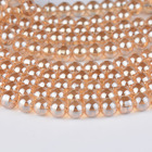 Top quality gold champagne ball Metallic Titanium Coated Natural Quartz Crystal Glass Smooth Round Bead 4/6/8/10/12/14/16MM H500