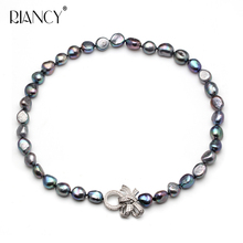 купить Fashion Baroque Pearl jewery natural freshwater pearl necklace 9-10mm fine jewelry дешево