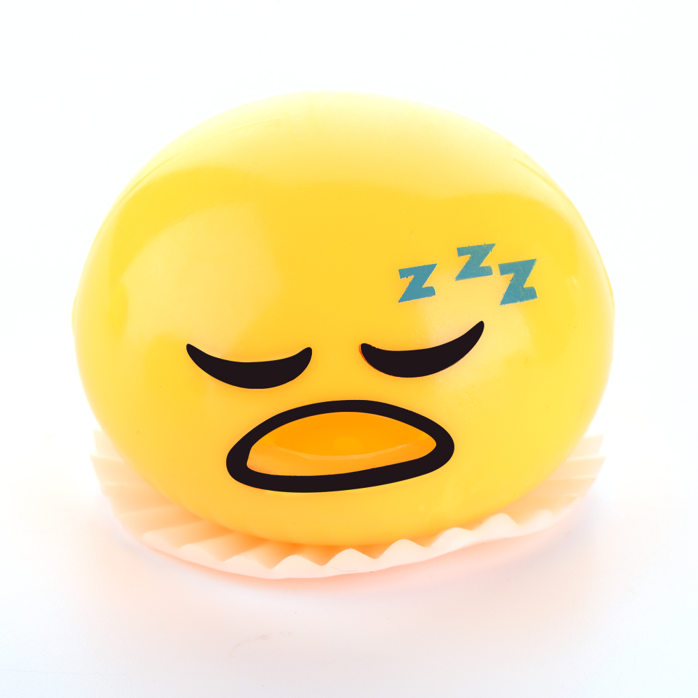 Novelty Gag Toy Practical Jokes Antistress Vomiting Egg Yolk Lazy Brother Fun Lizun Gadget Squeezed Slime Creative Gift in Gags Practical Jokes from Toys Hobbies