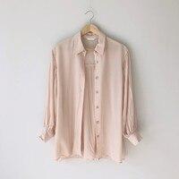 Nieuwe Vrouwen Shirts Puff Mouwen Een Ghost Paard Minder 2 Kleur Is Tender Blouse Wit Roze 218
