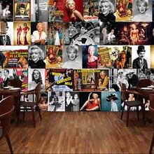 Custom retro wallpaper.Hollywood star poster.3D wallpaper mu