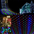 outdoor Lighting String 3Mx70CM 240LED String Fairy Lights Net Mesh Curtain Chrismas Wedding Party  light u7112