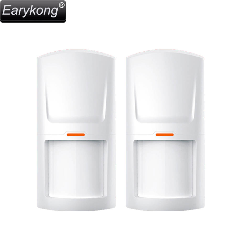 Free Shipping wireless passive infrared detector PIR Sensor 315M/433MHz for wireless GSM PSTN Home security Alarm System YLHW-02 forecum 433mhz wireless magnetic door window sensor alarm detector for rolling door and roller shutter home burglar alarm system