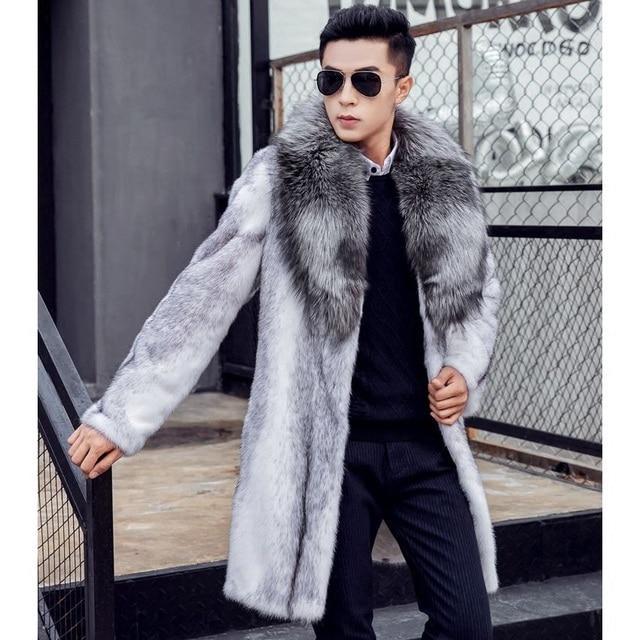 Manteau de fourrure homme pas cher
