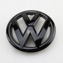 130mm Gloss Black Front Grille Grill Badge Replacement Car Logo Emblem for Volkswagen Jetta MK6 2011-2014