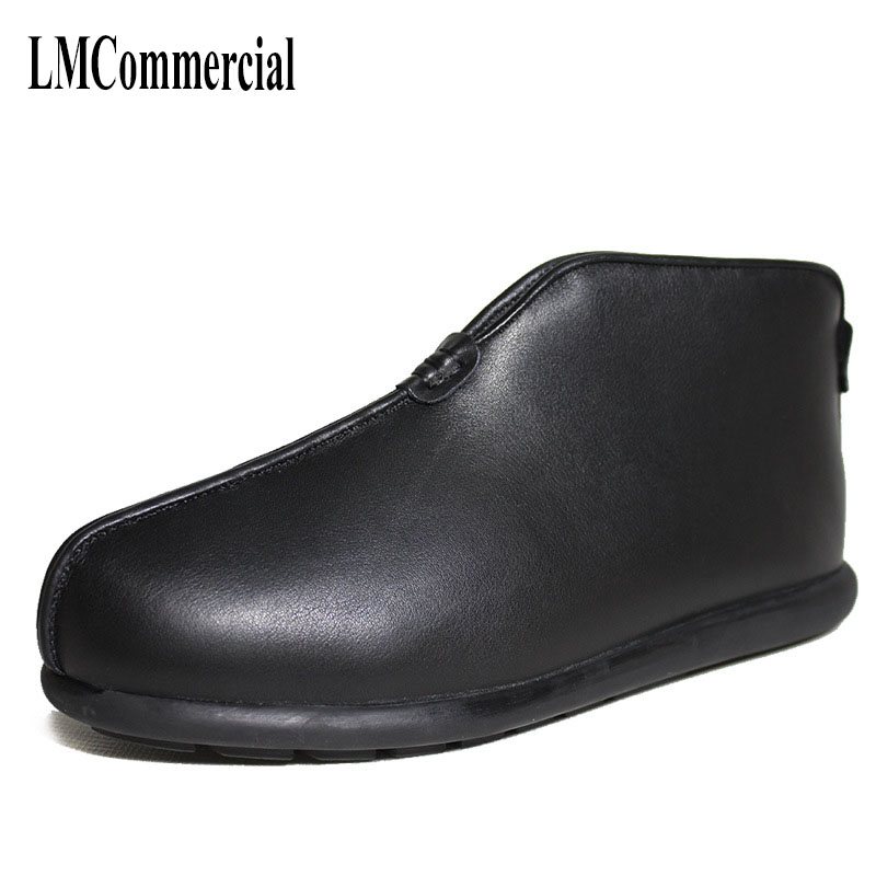 Warm in winter and old dad cashmere leather shoes men really wool shoes help male high boots slip old boots autumn winter cashmere knee warm old product joints cold wool winter spontaneous hot upset elderly men and women lengthen your knees