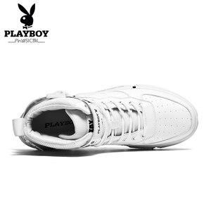 Image 3 - PLAYBOY Nieuwe Comfortabele Casual Schoenen Mannen PU Lederen Schoenen Hoge Kwaliteit Comfort Schoeisel Mode Platte Schoen Lace Up Boot schoenen