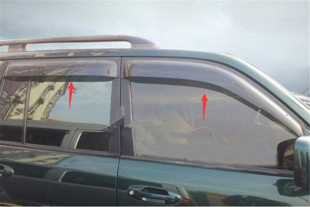 Minnelijk Weer Schilden Voor Toyota Land Cruiser 100 1998-2007 Venster Vizieren Zon Vizieren 4 Stks