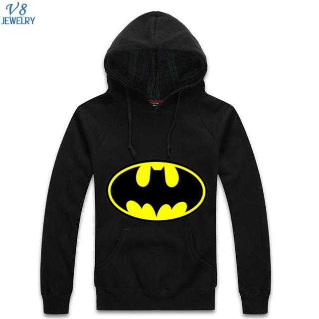 Superhero Batman Classical Design Men Hoodies Sweatshirt 5 Color Available Full Sleeve Print Autumn&Winter Men Pullover QA753