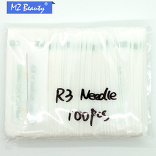 100pcs 3RLTraditional Permanent Makeup Needles Sterilized Tattoo Needle Round 3 For Permanent Makeup Machine 0.35×50 Mm