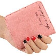 New Fashion Vintage Women Purse Female Slim short Wallet  Matte Leather Wallets  women's purs  Wallet for credit cards 10 colors
