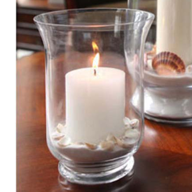 Transparent glass mousse glass lantern bell mouth vase - Mousse decoration ...