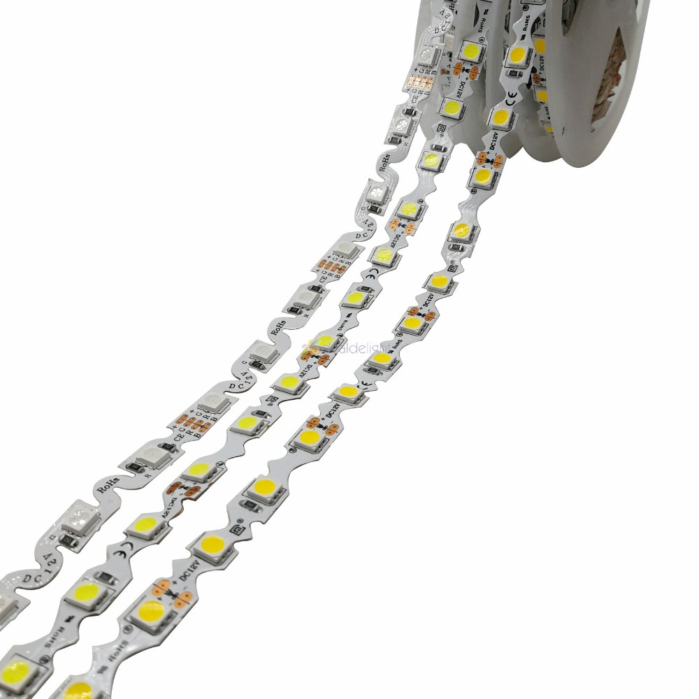 S Shape 5050 SMD LED Strip 60Led/m,Free Bending LED Tape, White/warm White/RGB, DC12V Non-waterproof 5m/lot For Channel Letter