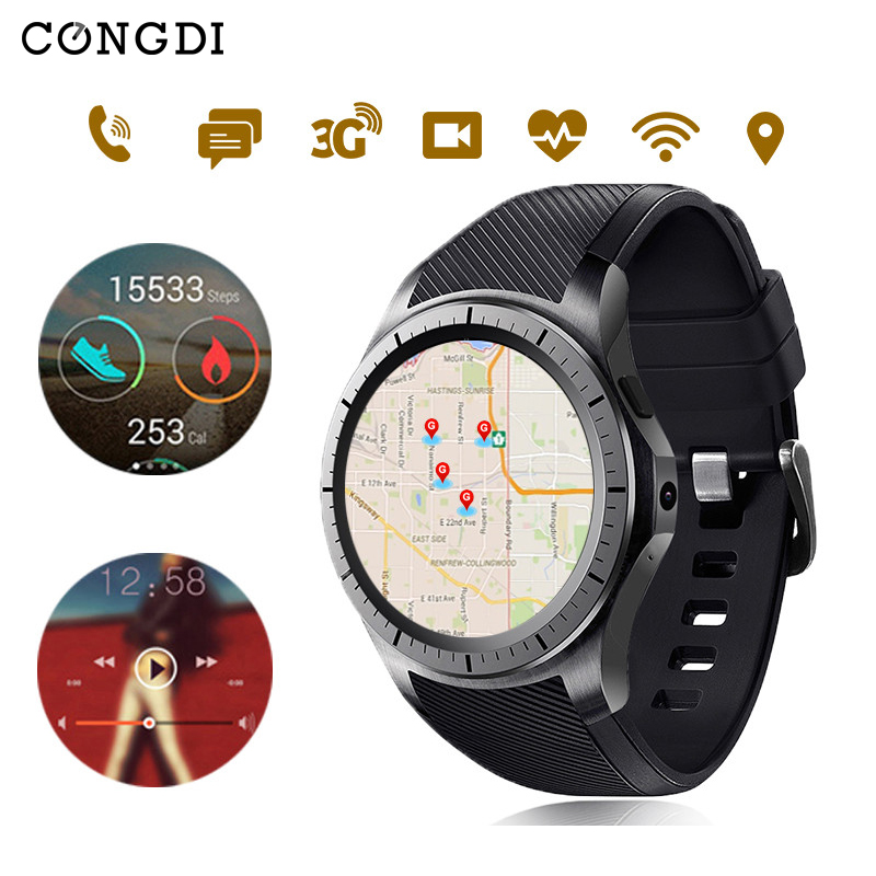 цена на Original Condi GW10 SMART WATCH With Browser GPS BT 3G WFI SIM Card Support Heart Rate Camera Voice Clock For Android IOS Phones