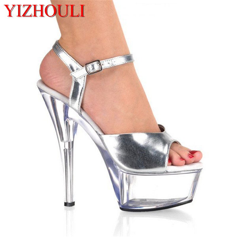 Office & School Supplies Sexy 15 Cm High-heeled Sandals Nightclub Dance Shoes Pole Dancing Shoes Model High Heels Womens Shoes